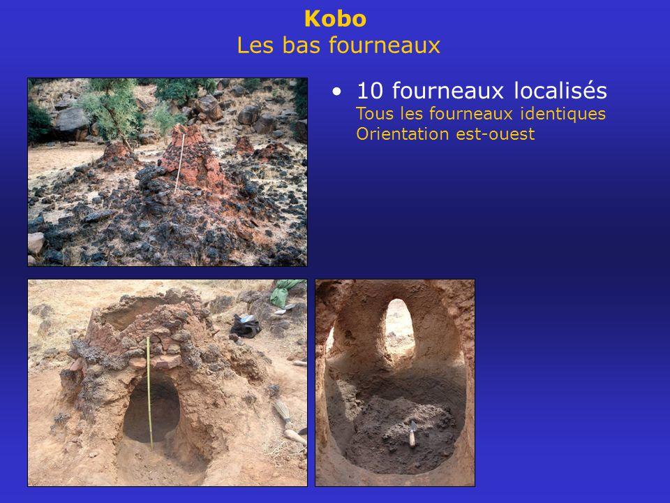 Kobo Les bas fourneaux 10 fourneaux localisés Tous les fourneaux identiques Orientation est-ouest