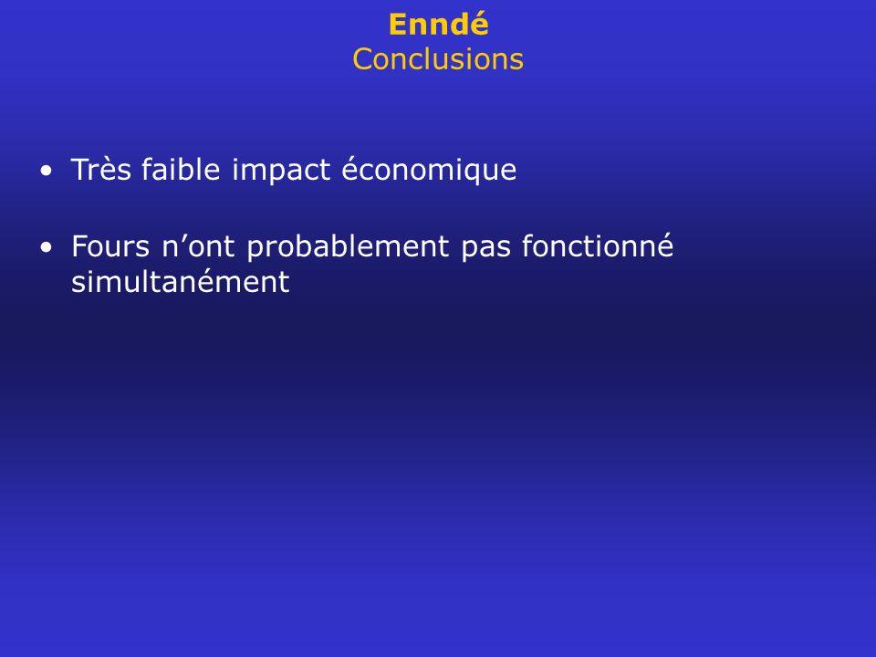 Enndé Conclusions Très faible impact économique.