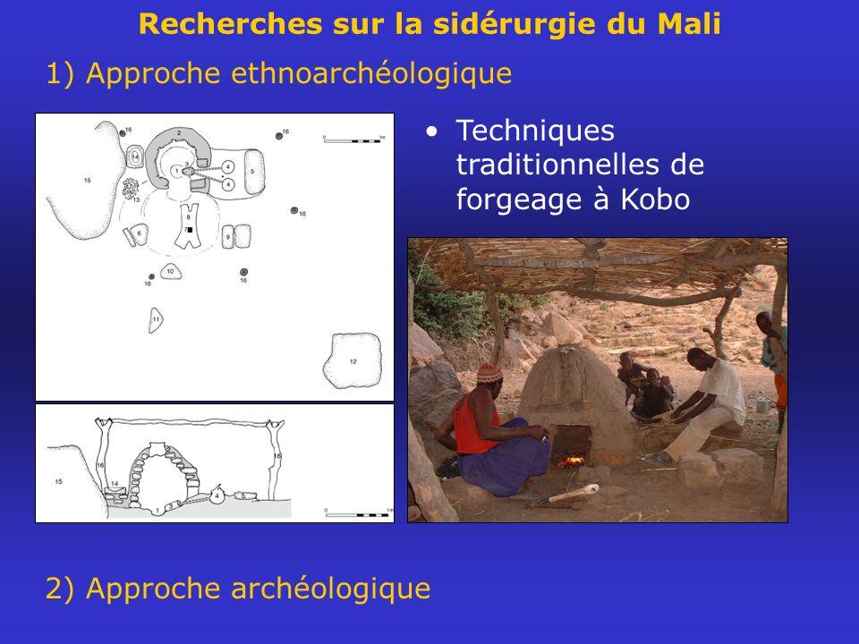 Recherches sur la sidérurgie du Mali