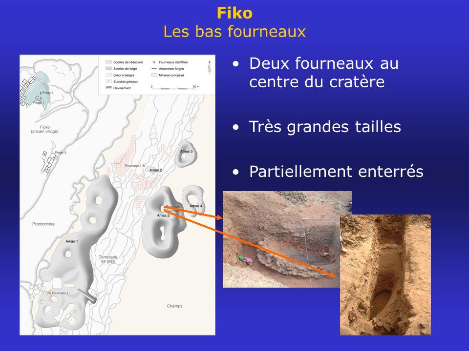 Fiko Les bas fourneaux Deux fourneaux au centre du cratère.
