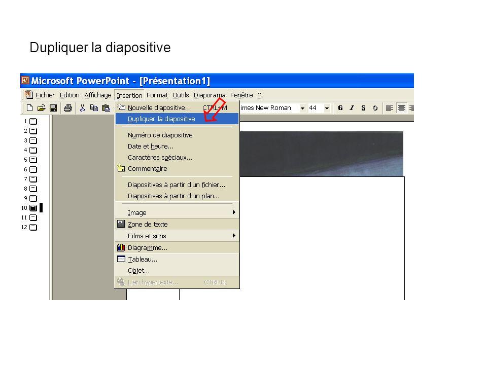 Dupliquer la diapositive