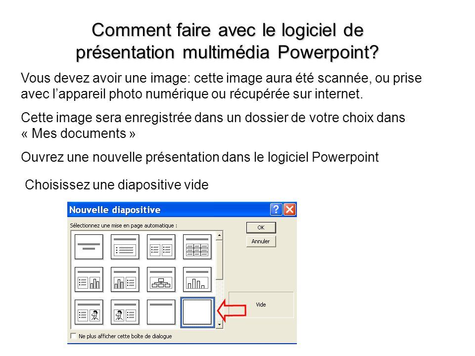 Comment faire avec le logiciel de présentation multimédia Powerpoint