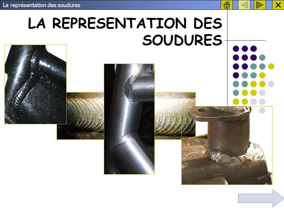 LA REPRESENTATION DES SOUDURES