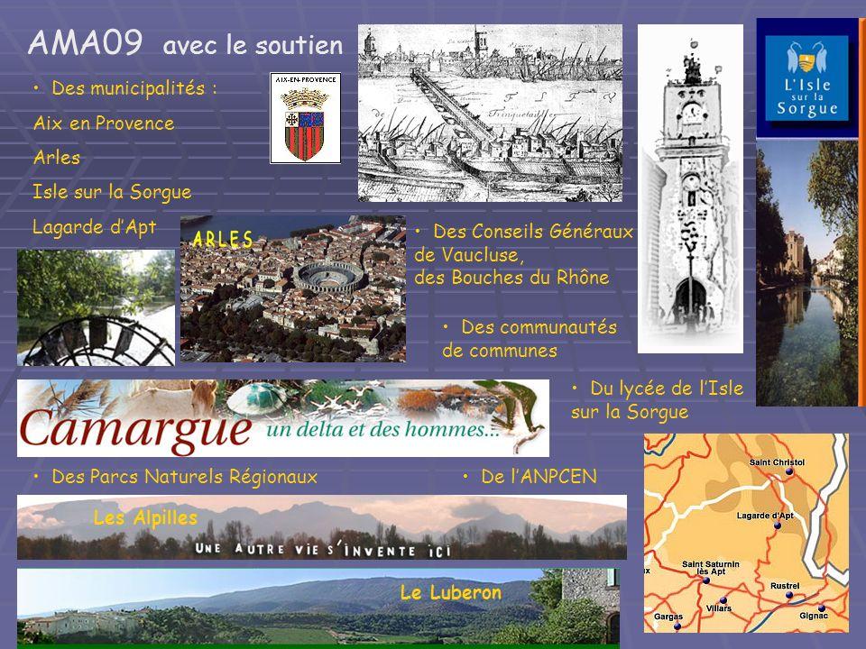 AMA09 avec le soutien Des municipalités : Aix en Provence Arles