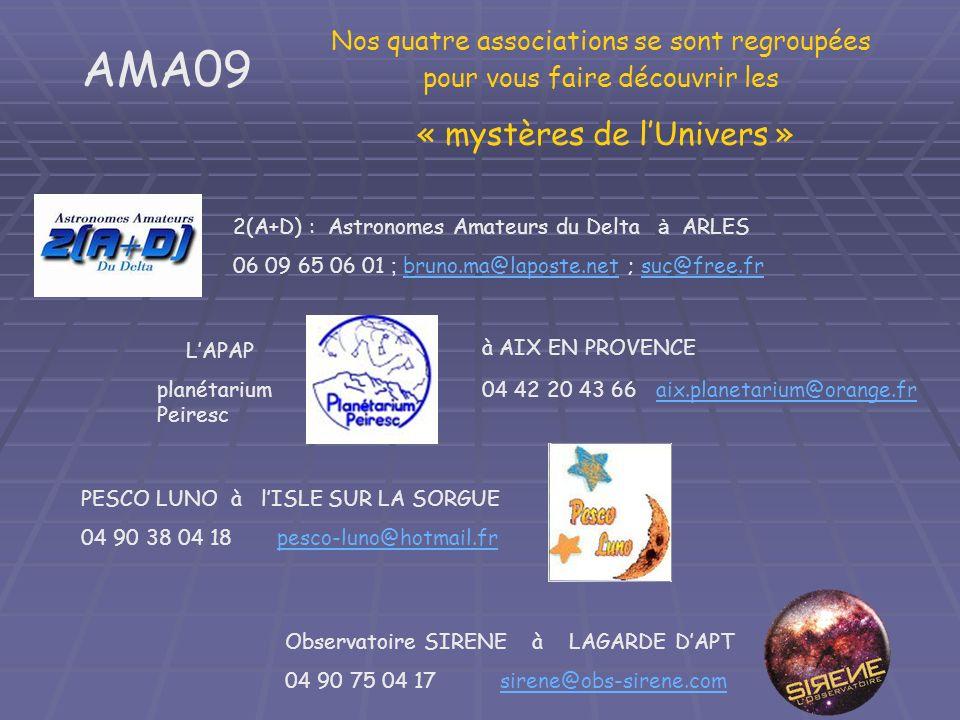 « mystères de l'Univers »