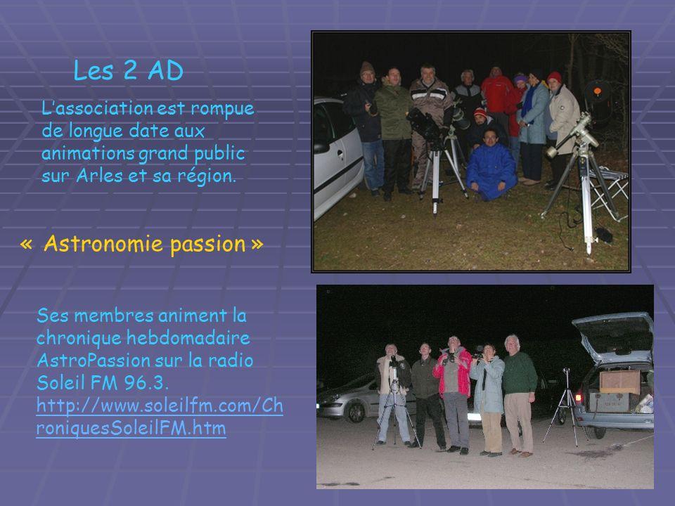 Les 2 AD « Astronomie passion »