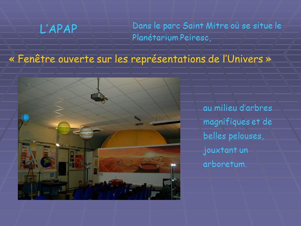 L'APAP « Fenêtre ouverte sur les représentations de l'Univers »