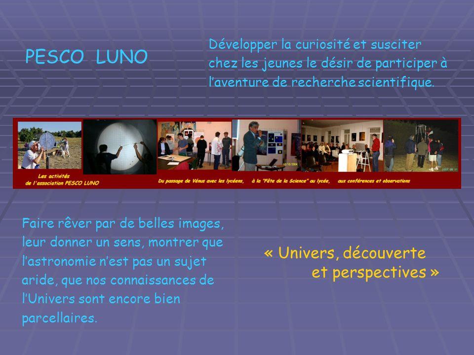 PESCO LUNO « Univers, découverte et perspectives »