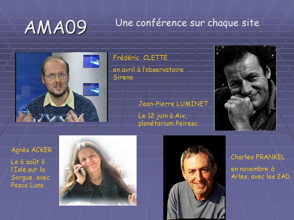 AMA09 Une conférence sur chaque site Frédéric CLETTE