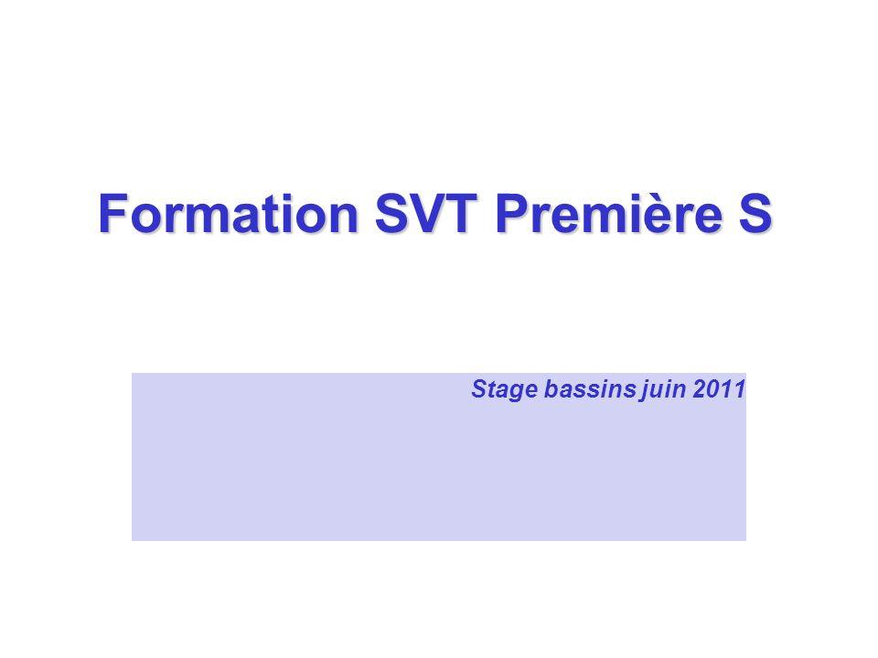 Formation SVT Première S