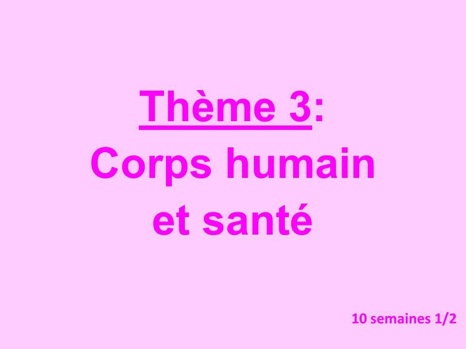 Thème 3: Corps humain et santé