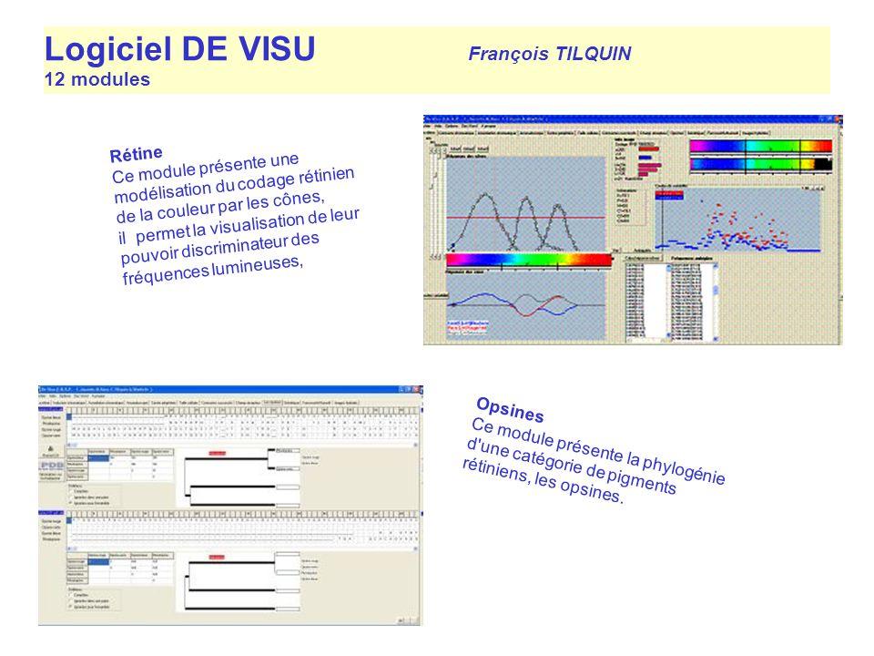 Logiciel DE VISU François TILQUIN 12 modules