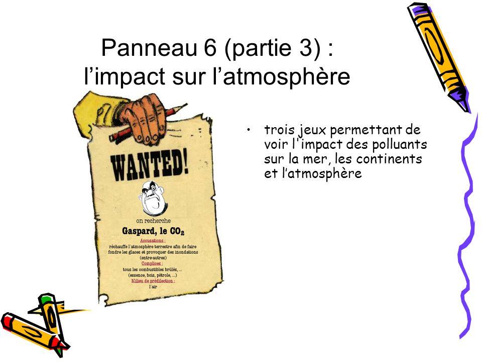 Panneau 6 (partie 3) : l'impact sur l'atmosphère