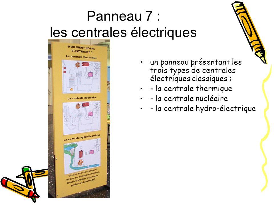 Panneau 7 : les centrales électriques