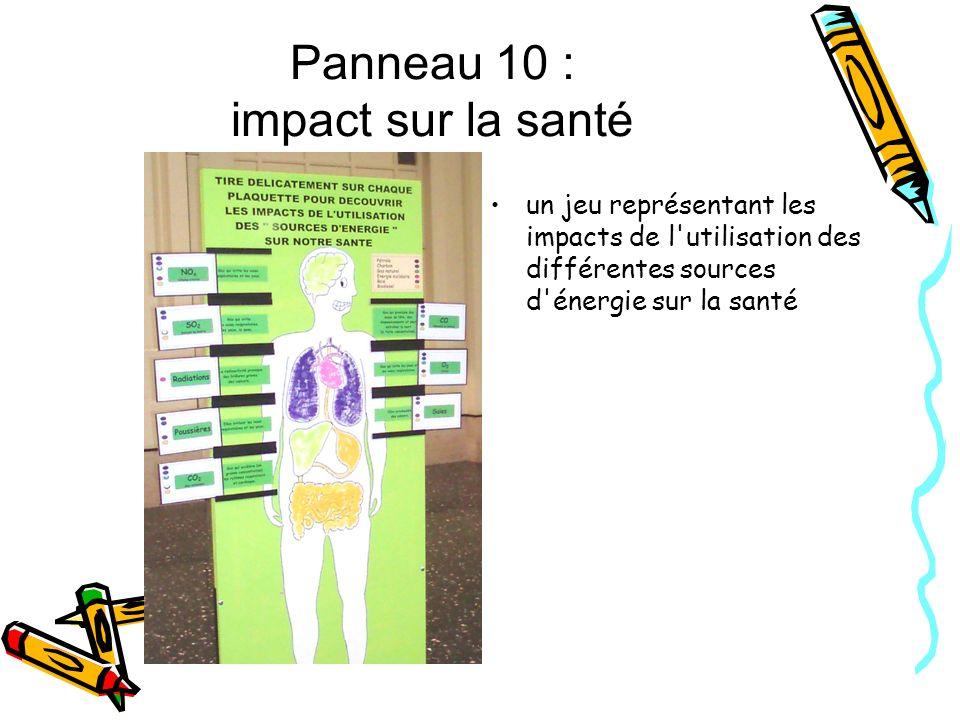 Panneau 10 : impact sur la santé