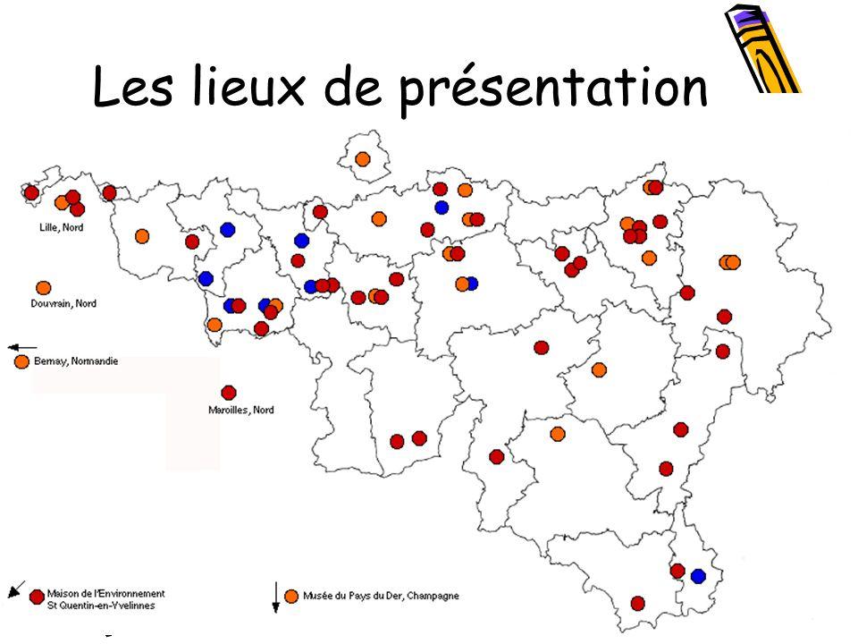 Les lieux de présentation