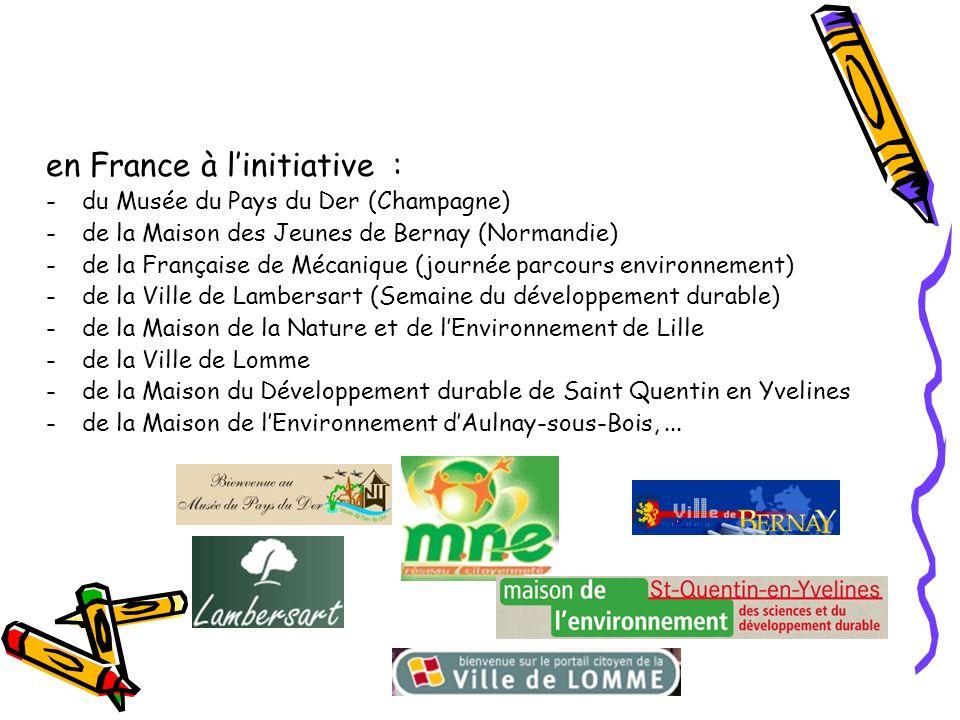 en France à l'initiative :