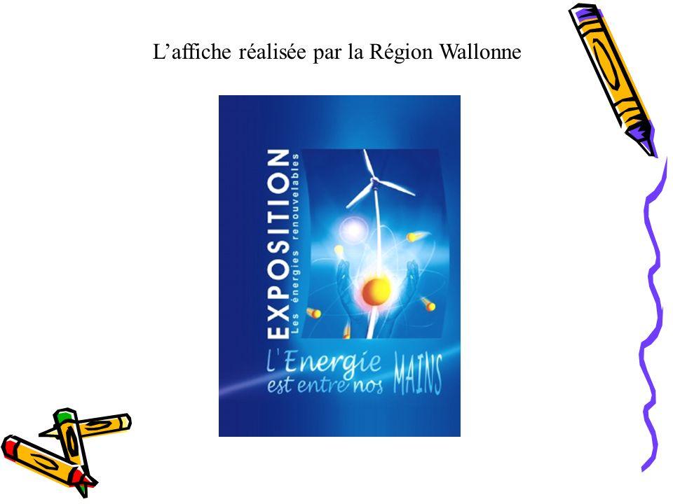 L'affiche réalisée par la Région Wallonne