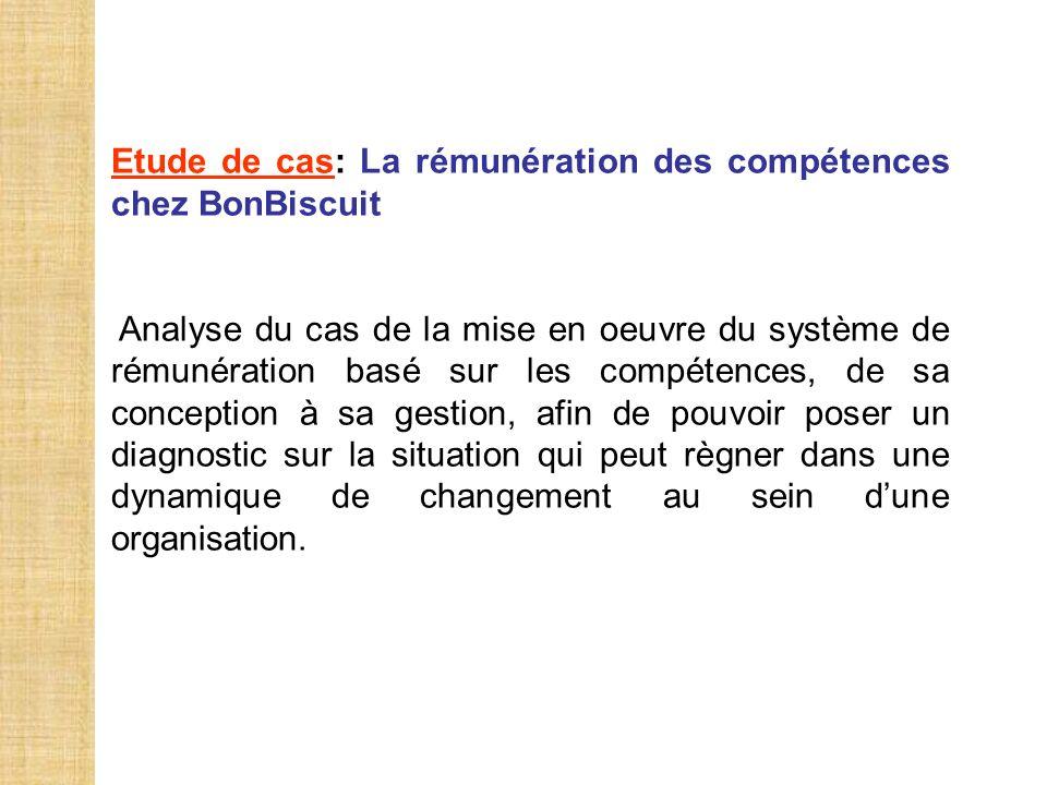 Etude de cas: La rémunération des compétences chez BonBiscuit