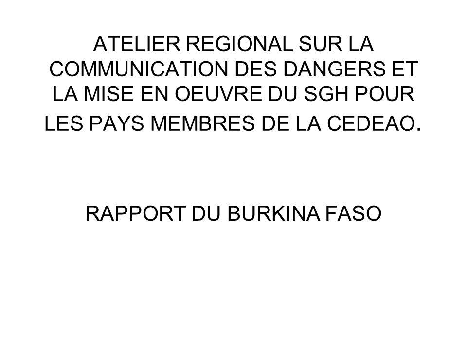 RAPPORT DU BURKINA FASO