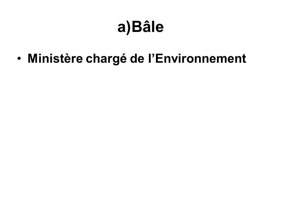 Bâle Ministère chargé de l'Environnement