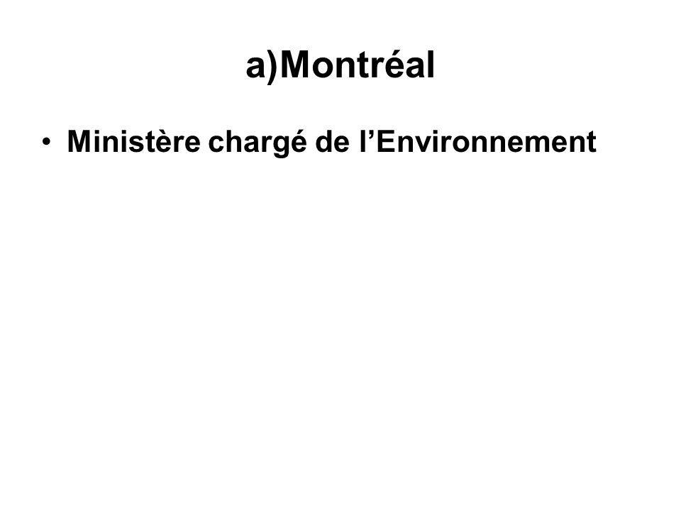 Montréal Ministère chargé de l'Environnement