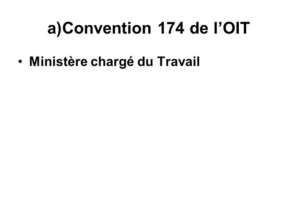 Convention 174 de l'OIT Ministère chargé du Travail