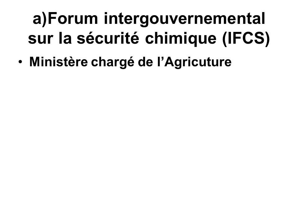 Forum intergouvernemental sur la sécurité chimique (IFCS)