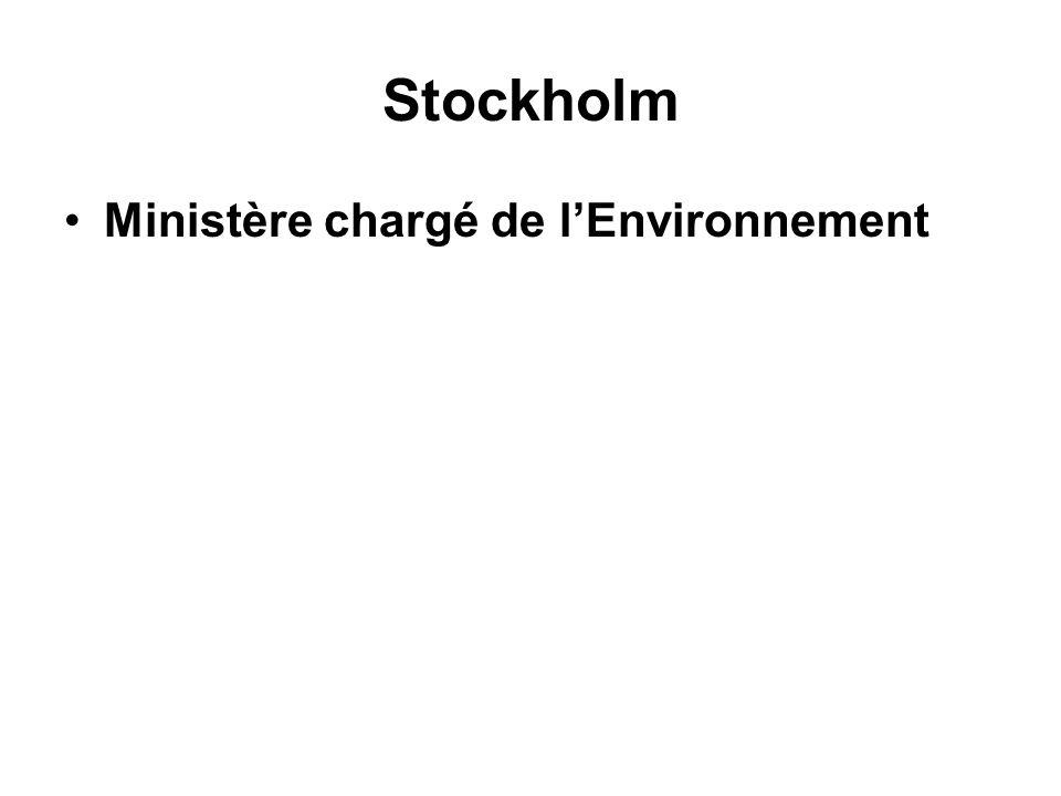 Stockholm Ministère chargé de l'Environnement