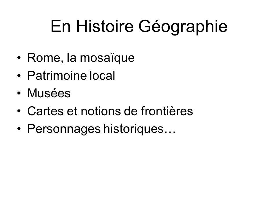 En Histoire Géographie