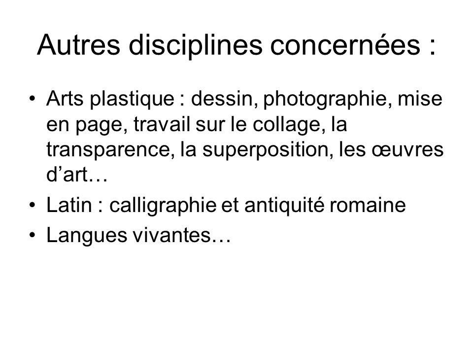 Autres disciplines concernées :