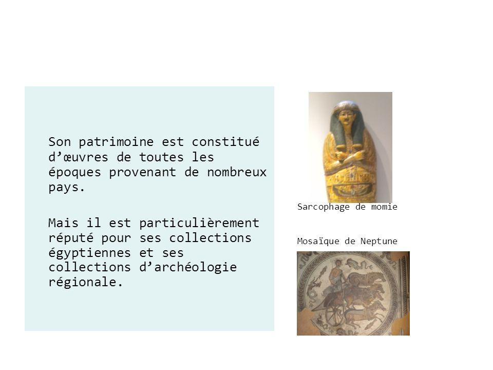 Sarcophage de momie Mosaïque de Neptune