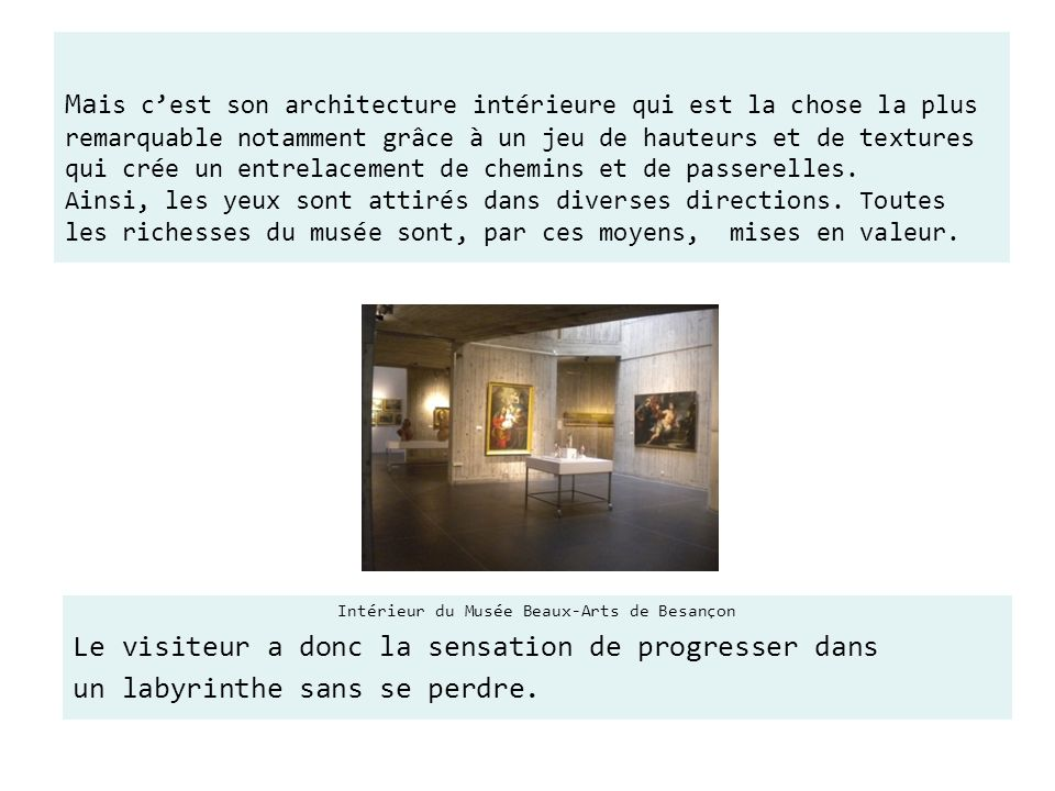 Intérieur du Musée Beaux-Arts de Besançon