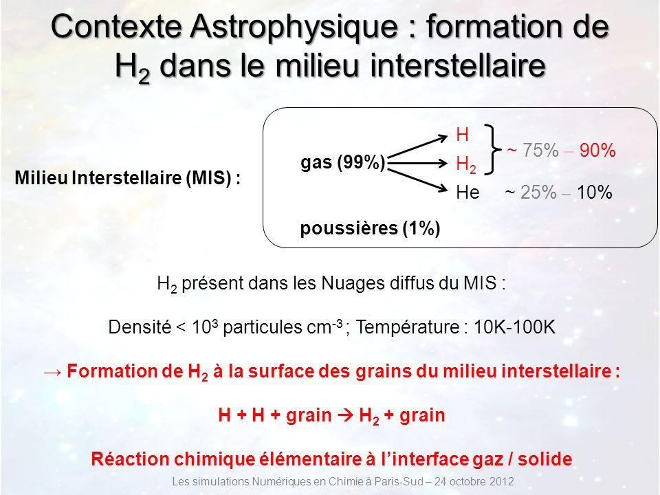 Contexte Astrophysique : formation de H2 dans le milieu interstellaire