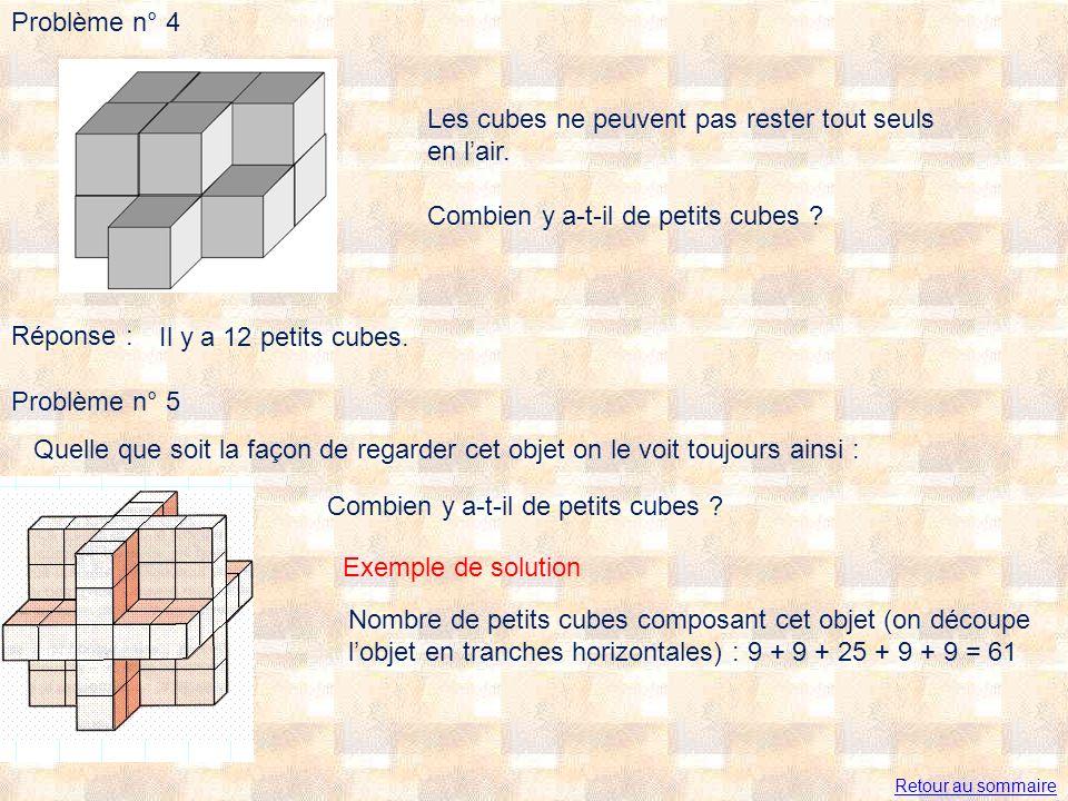 Les cubes ne peuvent pas rester tout seuls en l'air.
