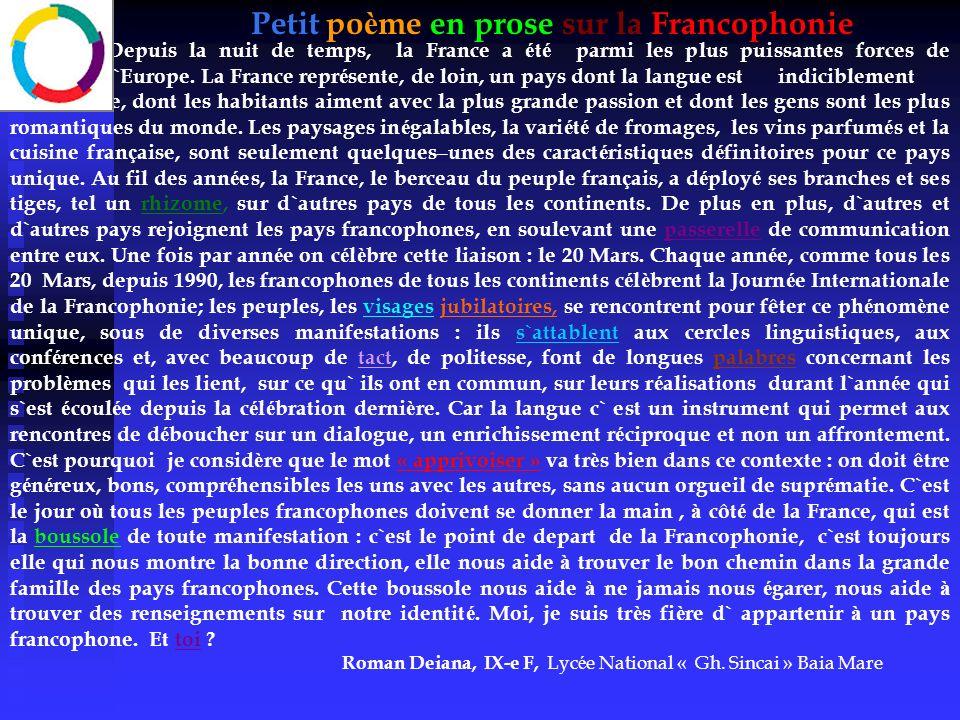 Petit poème en prose sur la Francophonie