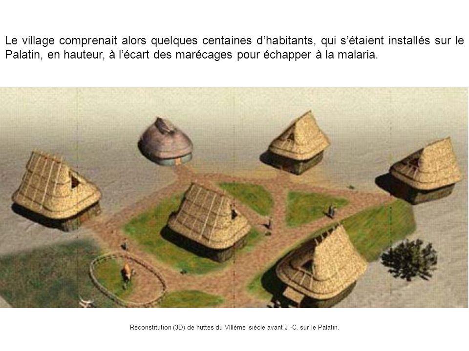Le village comprenait alors quelques centaines d'habitants, qui s'étaient installés sur le Palatin, en hauteur, à l'écart des marécages pour échapper à la malaria.