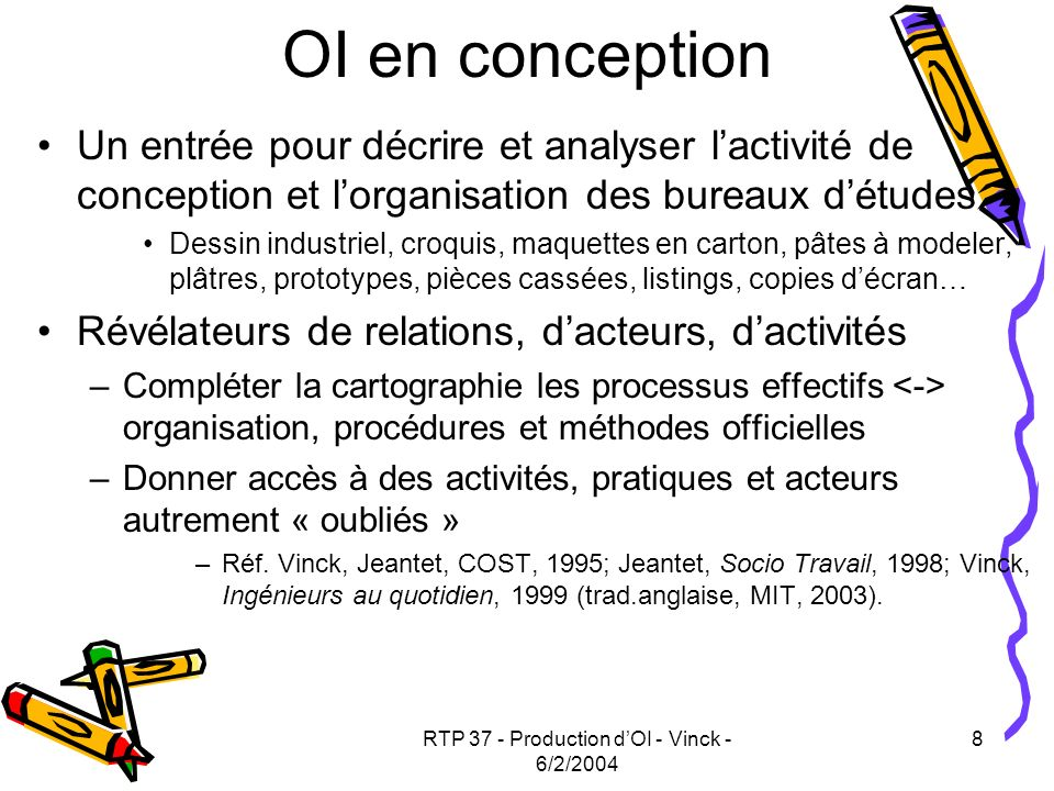 RTP 37 - Production d'OI - Vinck - 6/2/2004