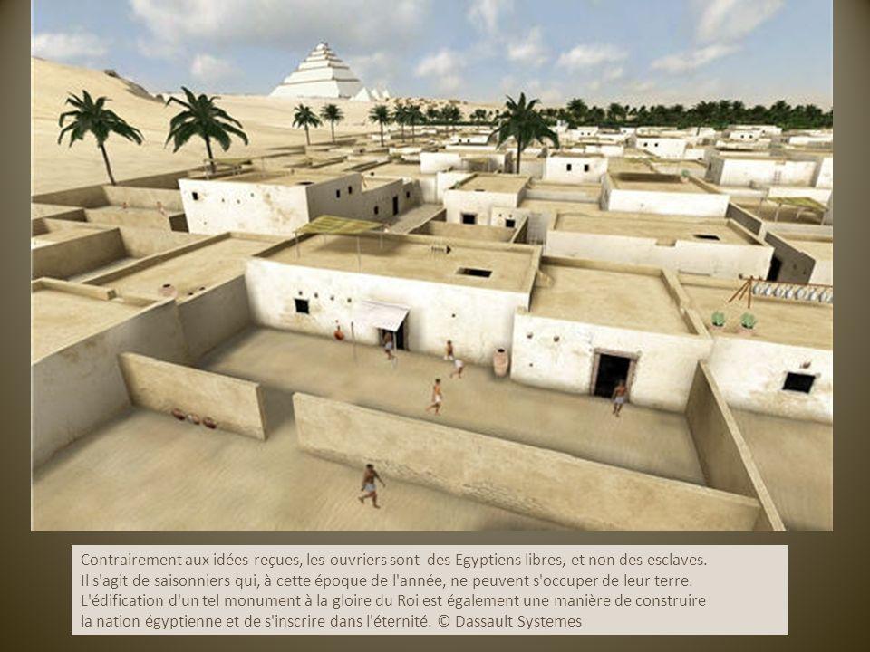 Contrairement aux idées reçues, les ouvriers sont des Egyptiens libres, et non des esclaves.