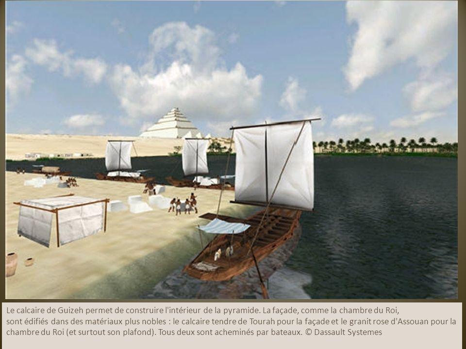 Le calcaire de Guizeh permet de construire l intérieur de la pyramide