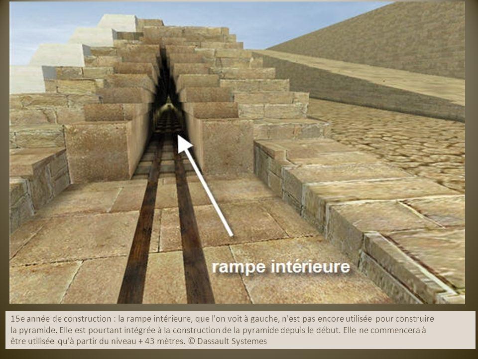 15e année de construction : la rampe intérieure, que l on voit à gauche, n est pas encore utilisée pour construire