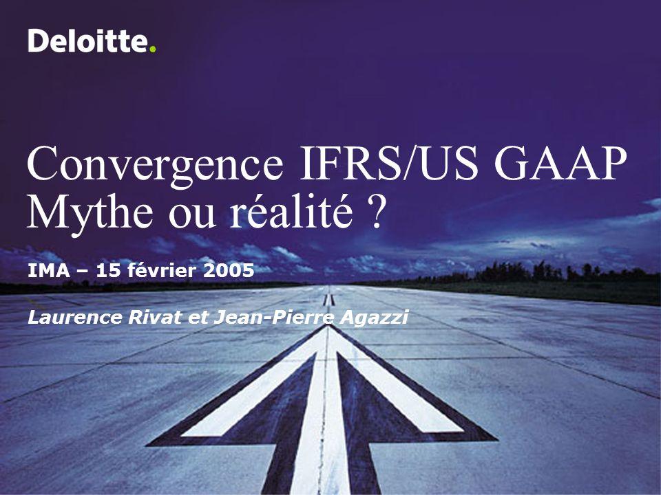 Convergence IFRS/US GAAP Mythe ou réalité