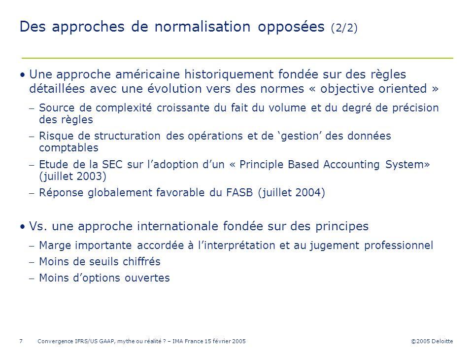 Des approches de normalisation opposées (2/2)