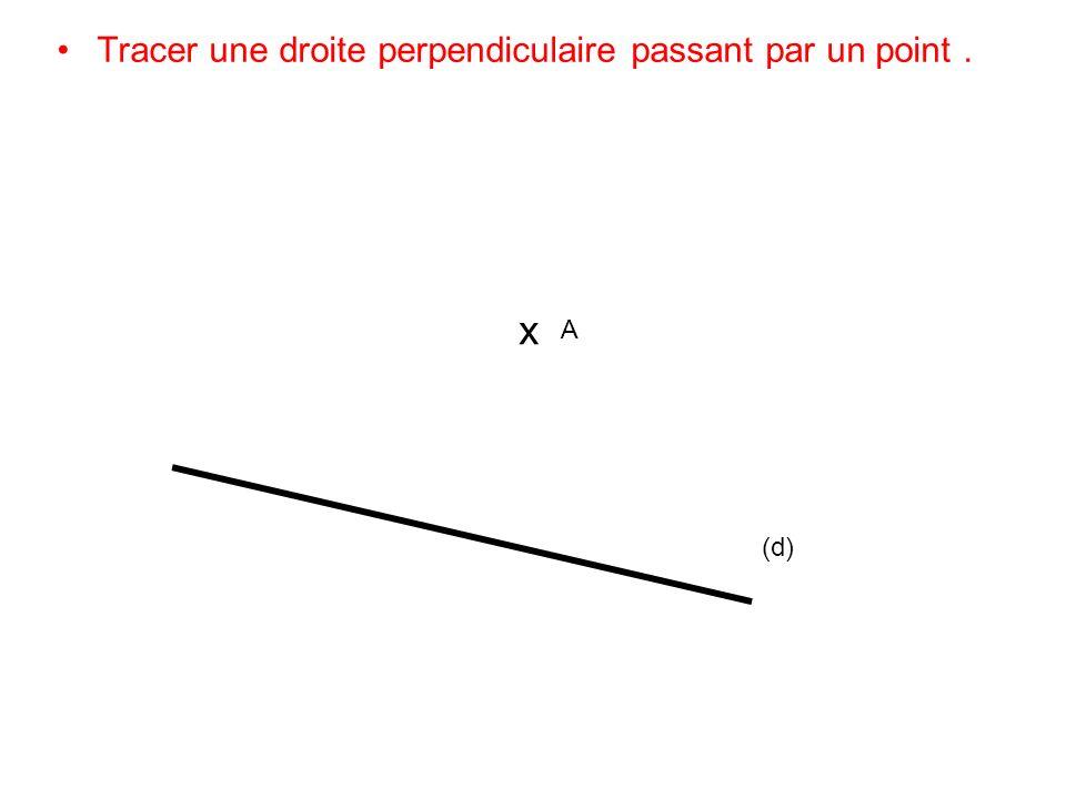 Tracer une droite perpendiculaire passant par un point .