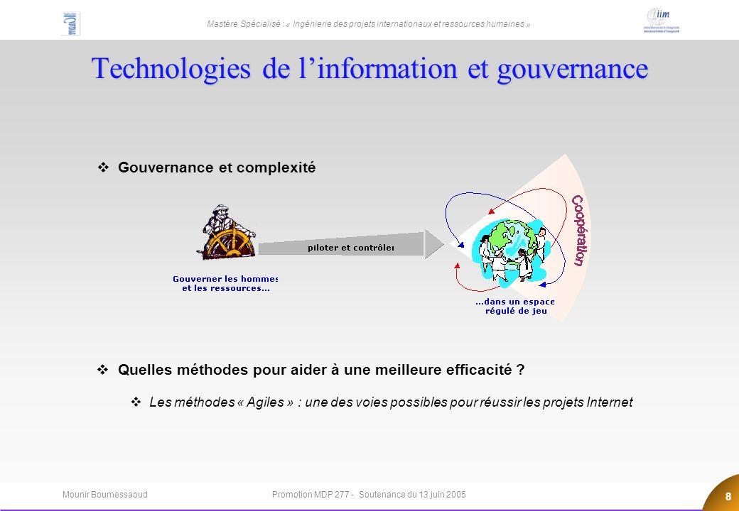 Technologies de l'information et gouvernance
