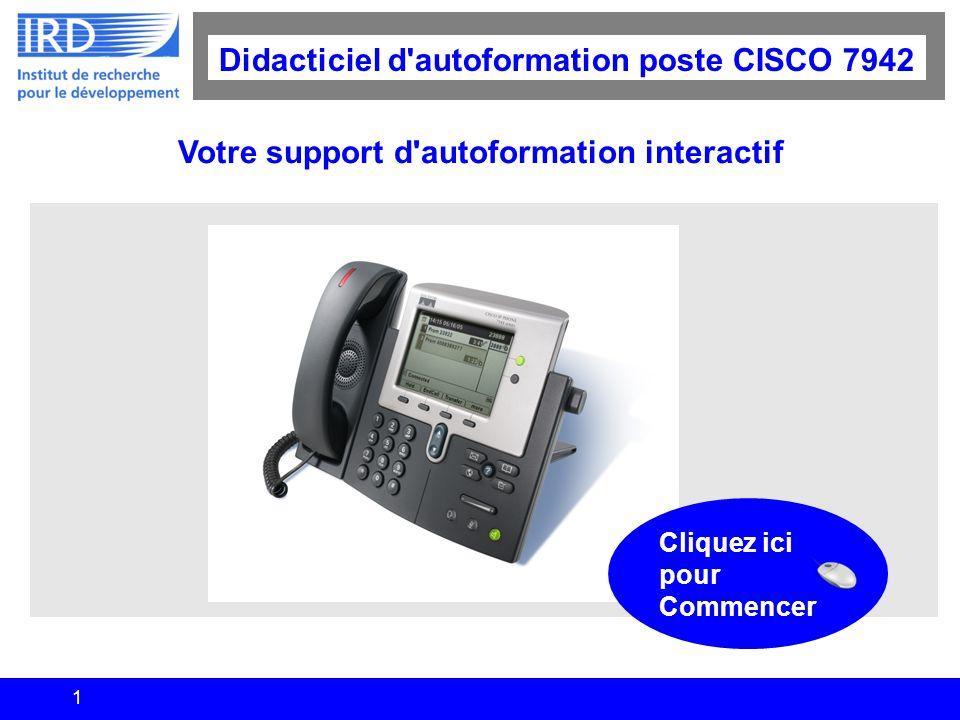Didacticiel d autoformation poste CISCO 7942
