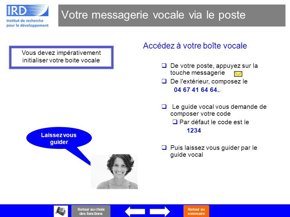 Votre messagerie vocale via le poste