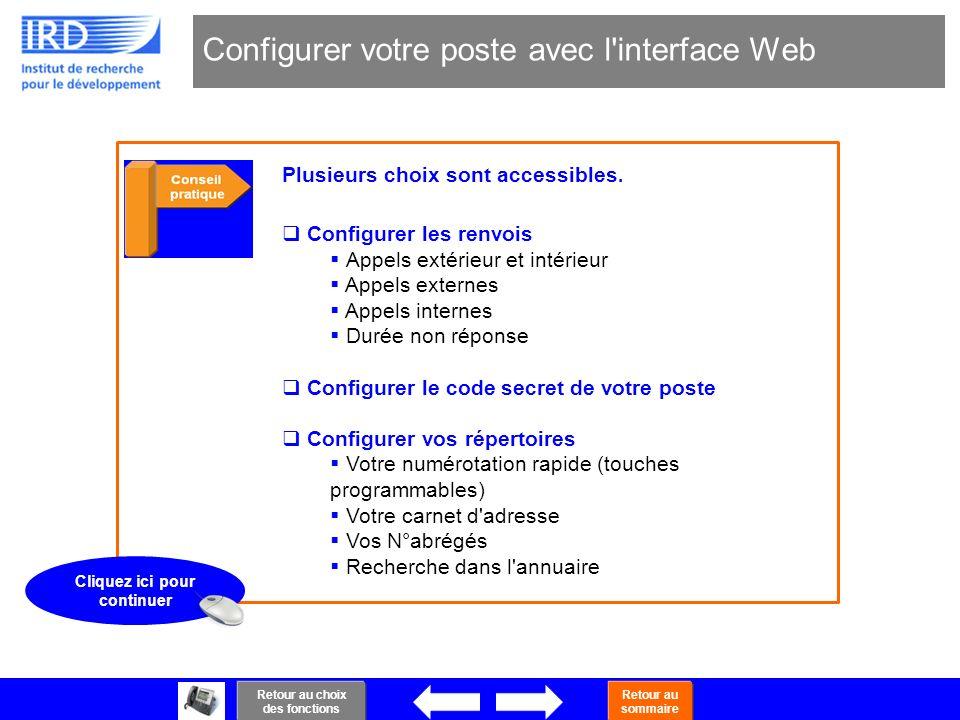 Configurer votre poste avec l interface Web