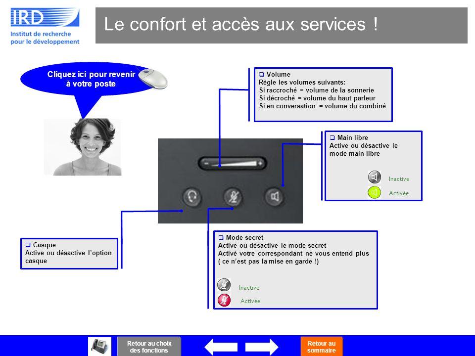Le confort et accès aux services !