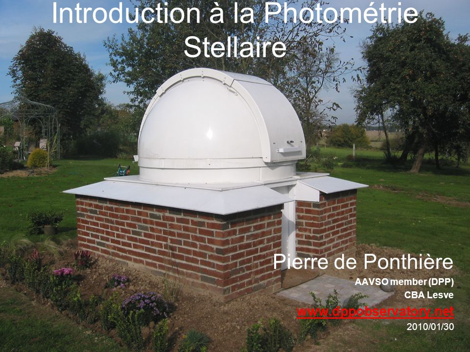Introduction à la Photométrie Stellaire
